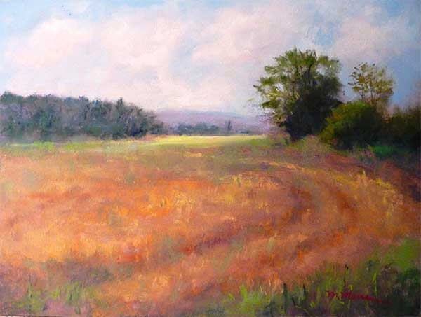 Harvest Time - Pastel by Mary Maue