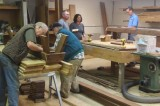 Wedding Guests Build Benches!