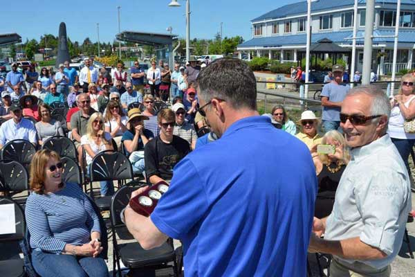 Dale Fowler honored at Port of Anacortes opening day deremony
